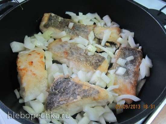 Рыба в молочно-луковом соусе