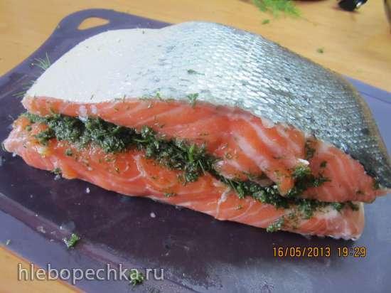 Гравлакс или малосольный лосось