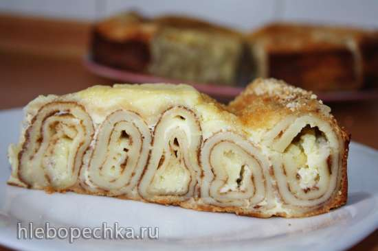 Блинный пирог с маскарпоне