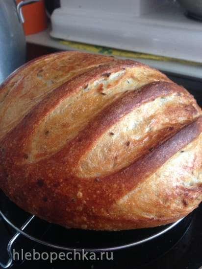 Восточно-европейский пшенично-ржаной картофельный хлеб за 5 минут в день