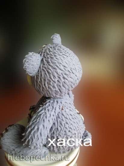 Мишка Тедди из мастики (мастер-класс)