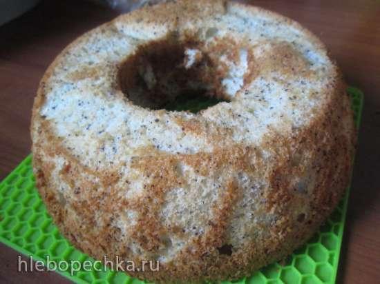 Ангельский масляный бисквит с маком и лимоном
