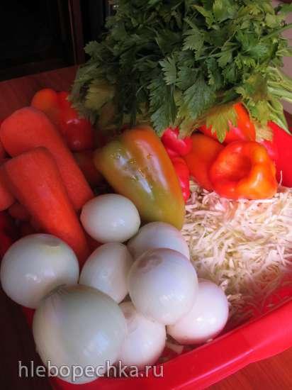 Салат белоцерковский в томатной заливке (закатка)