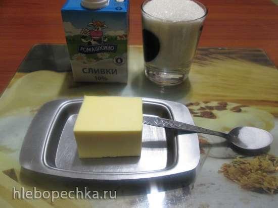 Соус карамельный для прослойки и пропитки тортов (мастер-класс)