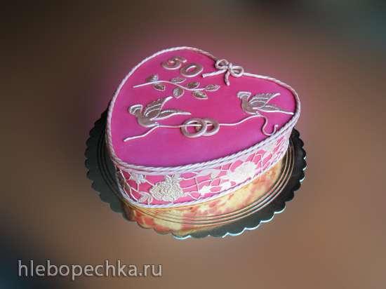 Торт с цветами для женщины фото 2