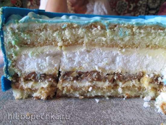 Орехово-карамельная прослойка для торта