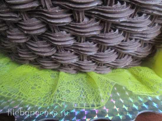 Торт «Корзина» Плетение кремом. Мастер-класс