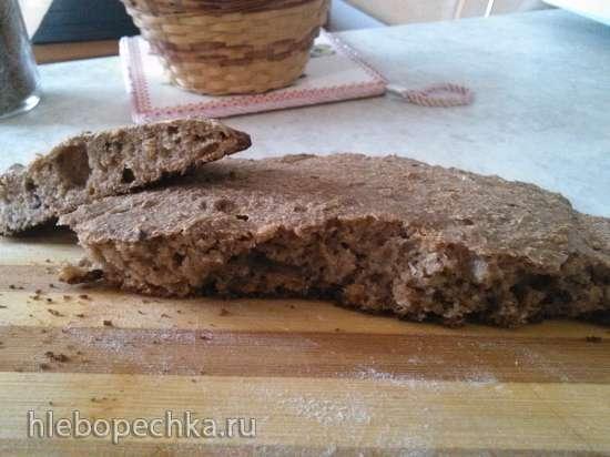 Черный хлеб без дрожжей и без закваски