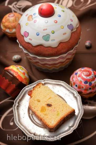 Праздничный итальянский  дрожжевой кекс