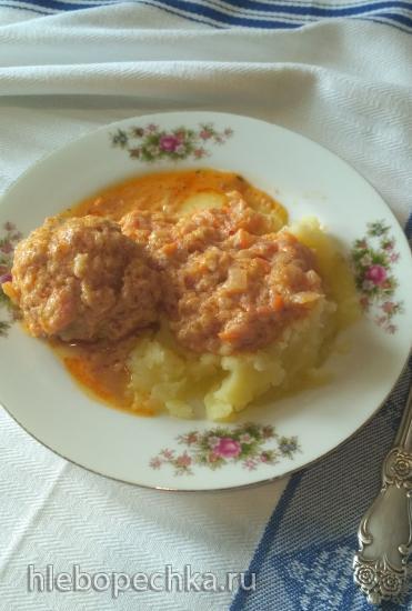 Фрикадельки в томатно-кабачковой подливке (Мультиварка)