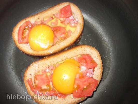 Бутерброды (завтрак для моей внученьки) в мультиварке Redmond RMC-M4502