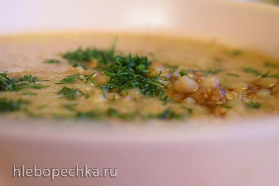 Гречневый крем-суп с белыми грибами в блендере-суповаре Добрыня
