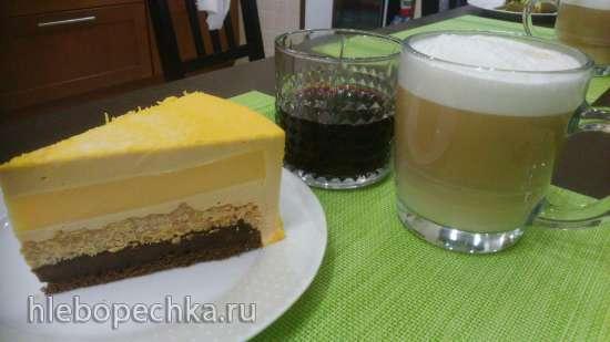 Лимонно-карамельный торт