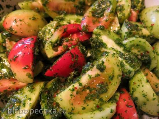 Закуска из зелёных помидоров