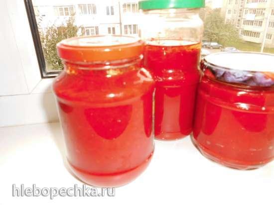 Паста соленая из сладкого красного перца