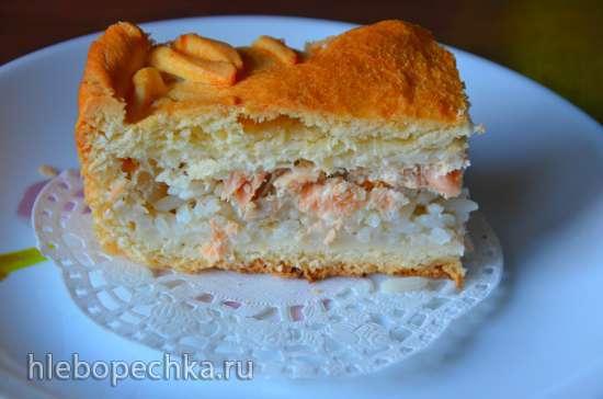 Пирог с лососем «Золотая рыбка»