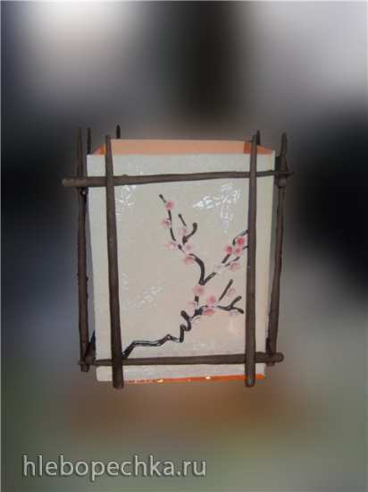 Фонарик в японском стиле (мастер класс)