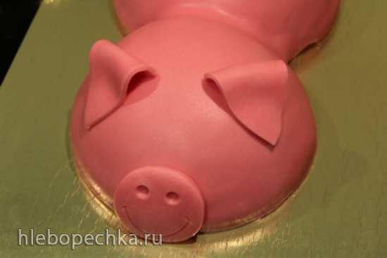 Свинья-копилка из мастики (мастер-класс)