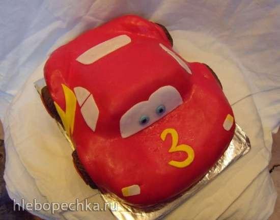 Торт «Машина »Молния McQueen (мастер-класс)