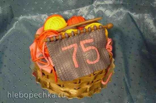 Торты, украшенные мастикой и марципаном 2.