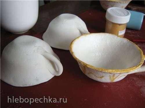 Чашка из мастики на желатине