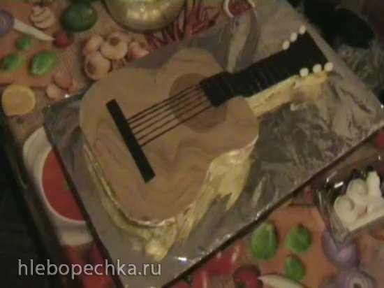 Торт Гитара (мастер-класс)