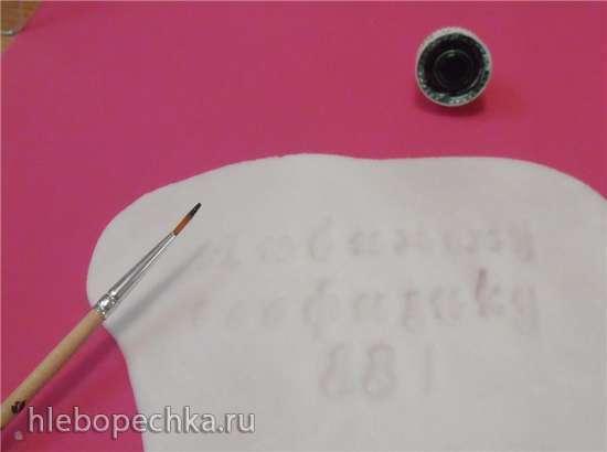 Надпись на торте с помощью штампа (мастер-класс)