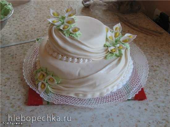 Украшение юбилейного торта (мастер - класс)