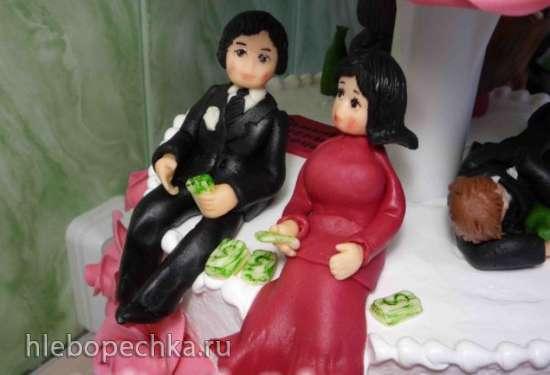 Торты, украшенные кремом