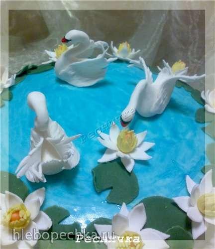 Лебеди из мастики (мастер-класс)
