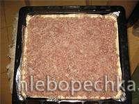 Пирог быстрый капустно-мясной