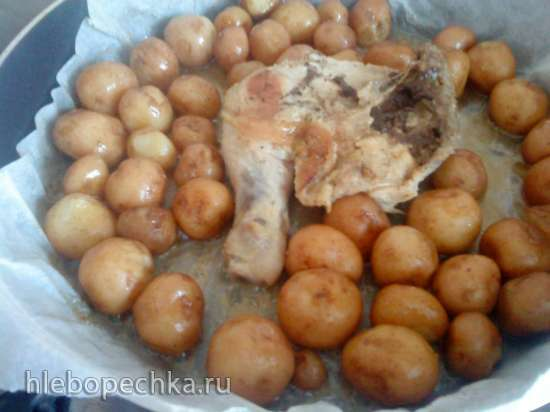 Картофель на пергаменте