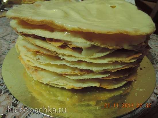 Торт «Нежный Наполеон» (мастер-класс)