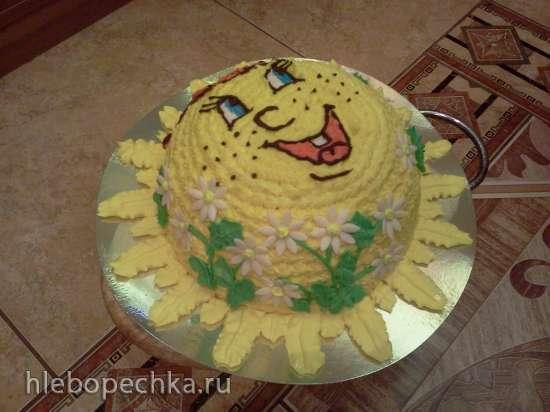 Смайлики, солнышко (торты)