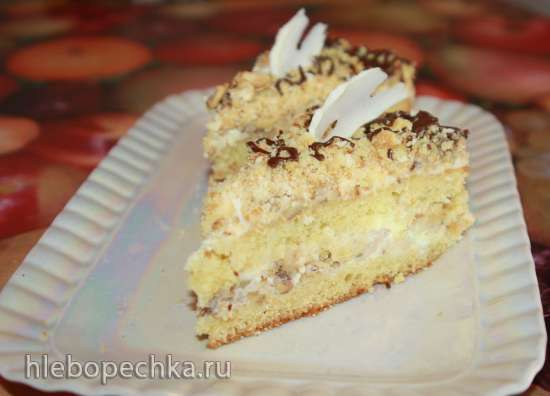 Торт «Пища Богов» с яблочной начинкой