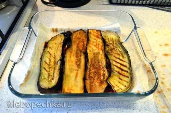 Слоеный пирог из лаваша с баклажанами и сыром