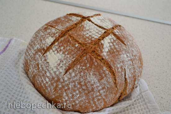 Хлеб из ржаной цельнозерновой муки с изюмом (Р. Бертине)