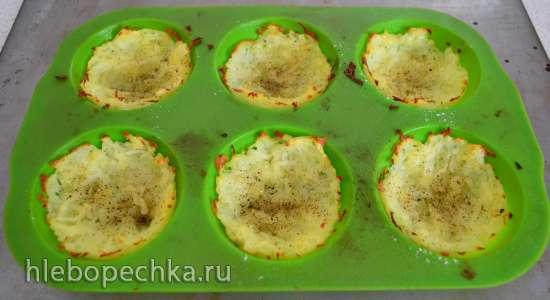 Яичница-глазунья в картофельной корзиночке
