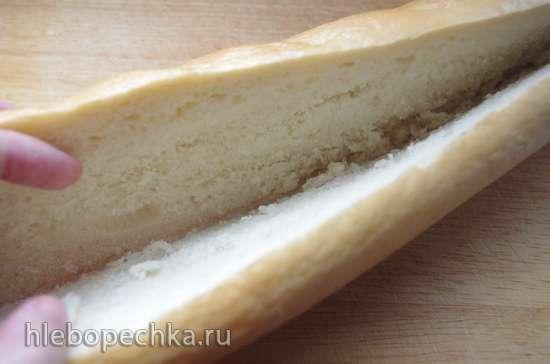 Багет, фаршированный сёмгой и сыром