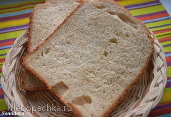 Хлеб пшеничный на яичных белках в хлебопечке