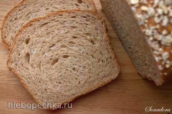 Пшеничный цельнозерновой хлеб из холодного теста