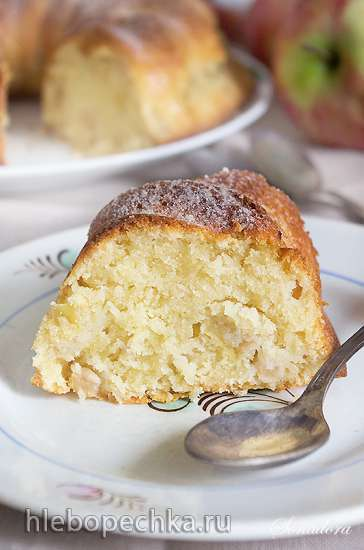 Яблочно-кокосовый кекс