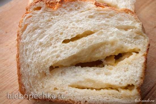 Кранц с сыром и печеным чесноком