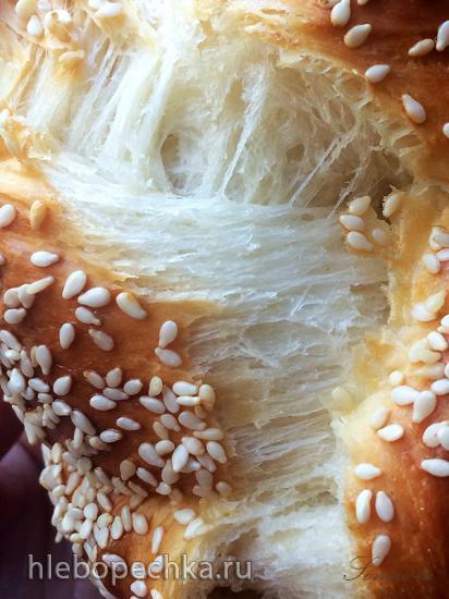 Плетенка на тесте с творожным сыром