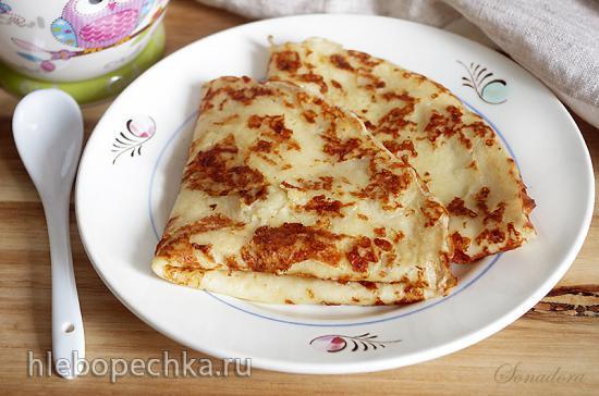 Блины заварные с картофелем и сыром