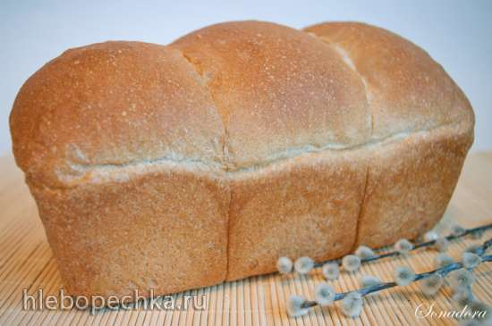 Пшеничный хлеб на poolish (Ciril Hitz)