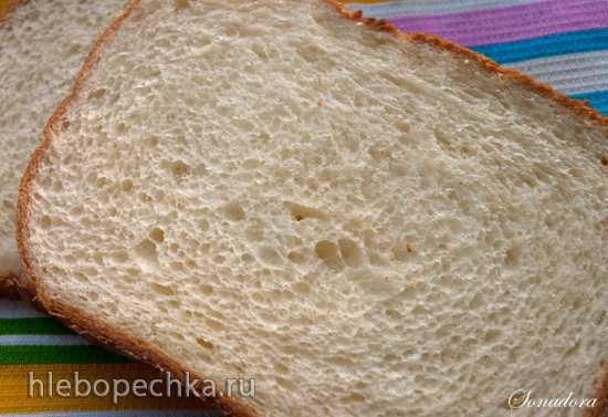 Сдобный хлеб из муки 1 сорта в хлебопечке