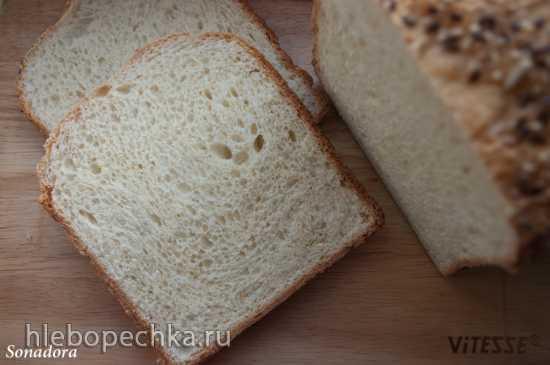 Мягкий бутербродный хлеб в хлебопечке