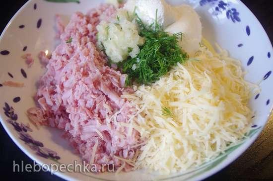 Куриная запеканка с сыром и ветчиной