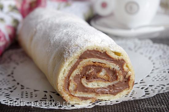 Рулет Карпатка с шоколадным кремом